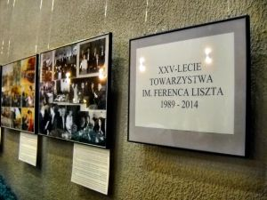 "In the period 4-17 March the foyer of the Wroclaw Philharmonic hosted the exhibition ""25 YEARS OF FERENC LISZT SOCIETY 1989-2014"""